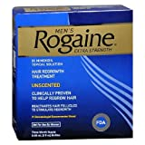 Men's Rogaine Extra Strength Hair Regrowth Treatment, Unscented 3 month supply (Tamaño: 2 Ounces)
