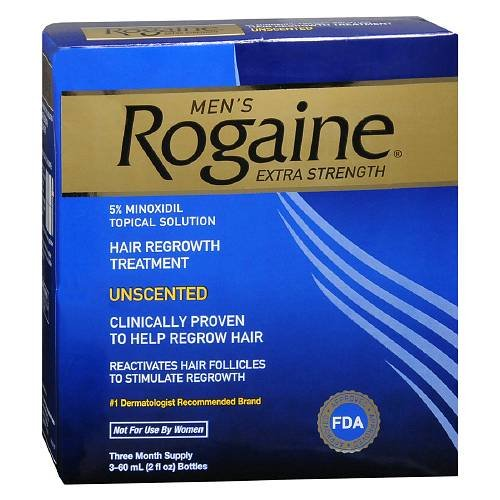 Men's Rogaine Extra Strength Hair Regrowth Treatment,