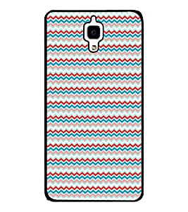 Fuson Premium Multi Color Pattern Metal Printed with Hard Plastic Back Case Cover for Xiaomi Mi 4