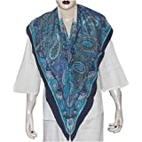 Hand Painted Crepe Square Silk Scarf 44 x 44 inches (sqsrf076)