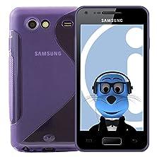 buy Italkonline Samsung I9070 Galaxy Advance Purple Tpu S Line Wave Hybrid Gel Skin Case Protective Jelly Cover