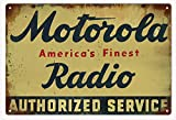 Motorola Radio Vintaged Sign 12x18
