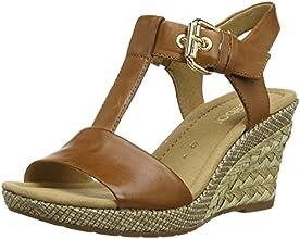 Gabor Shoes (22.824.54), Sandales Compensées Plateforme Femme - Marron (Peanut (Ba.St),  FR:37.5 ( 4.5 UK)