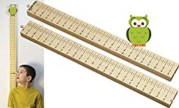 Growth Stick with Owl Topper - Made in USA