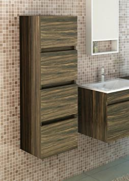 Kufstein Zebra Optics Dark Bathroom Cabinet