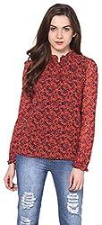 Harpa Women's Body Blouse Shirt (GR2626-Orange_Large)