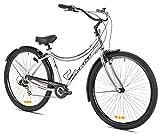Kent KX7 7-Speed Cruiser Bike, Silver, 19-Inch/One Size