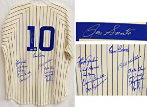 1969 Chicago Cubs Team Signed Ron Santo #10 Cooperstown Jersey w 12 Signatures