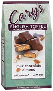 Cary's Of Oregon Milk Chocolate Almond English Toffee, 8-Ounce Boxes (Pack of 4)
