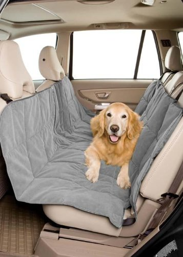 Pet Travel Hammock Dog Car Seat Cover- Microvelvet Slate
