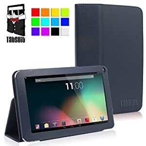 TabSuit(TM) 9'' PU Leather case for 9'' Dragon Touch N90, Astro Queo A912, Neutab N9/N9 Pro, Digital Reins A23, ProntoTec 9'', Tagital 9'' A23, Afunta 9'' A23, iRulu 9''Tablet PC (PLEASE check the complete compatible tablet list under Product Description) (Blue)