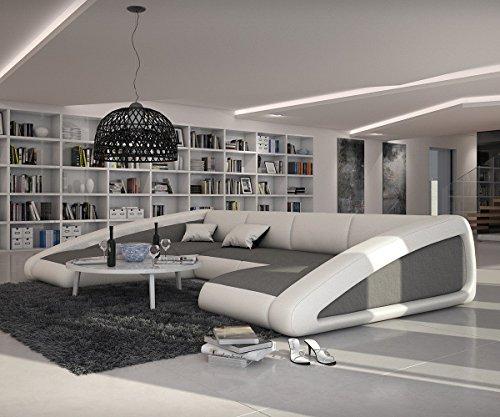 Couch-Kerry-Weiss-Grau-355x245-cm-Ottomane-Links-Wohnlandschaft