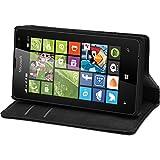 PhoneNatic Kunst-Lederhülle für Microsoft Lumia 435