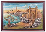 Ajanthaa Arts and Crafts Fort Plywood 3D Mural Painting - (71.12 cm x 101.6 cm x 10.16 cm)