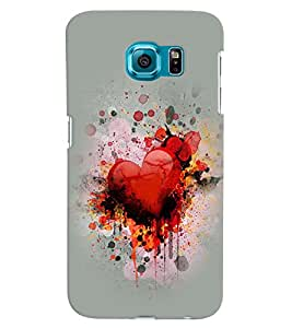 PRINTVISA Abstract Heart Love Case Cover for Samsung Galaxy Note 5 Edge