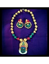 Nithish Fashions Kerala Face Terracotta Jewellery