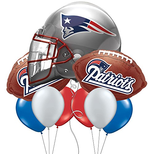 New England Patriots Party Brown Football Balloon Set (Patriots Party Supplies)