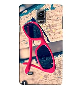 Blue Throat Sun Glasshard Plastic Printed Back Cover/Case For Samsung Galaxy Note 4