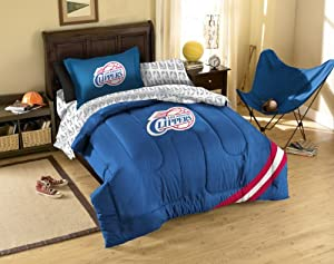 NBA Los Angeles Clippers Bedding Set, Twin by Northwest