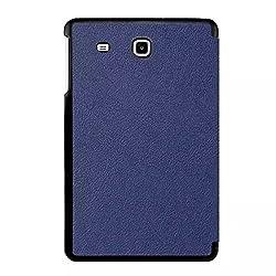 SPL Premium PU Leather Book Stand Cover for Samsung Galaxy Tab E (9.6 inch) -Dark Blue