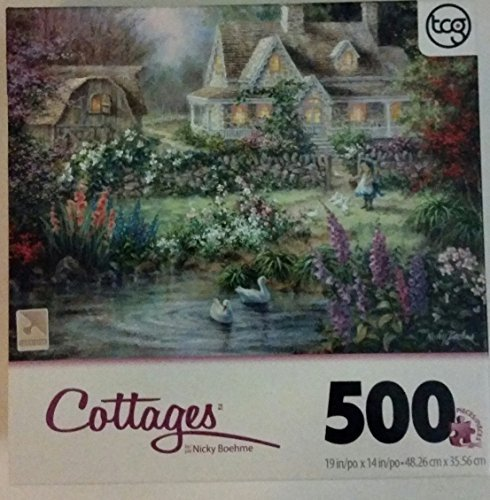 "Cottages 500 Piece Sure-lox Puzzle ""Feeding the Geese"""