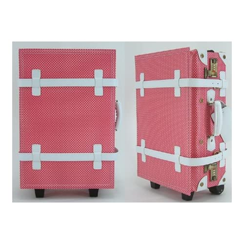 トラベルスーツケース【28L:約1~3泊用】ドットピンク・トランクケース・旅行かばん・旅行・出張・ビジネス