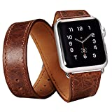 Apple Watch Genuine Band,Icarercase Classic Genuine Leather Quadri-Watchband Series Replacement Strap Classic... - B0138LHTO2