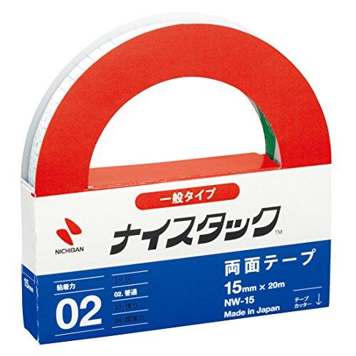 ニチバン 両面テープ ナイスタック 一般タイプ 15mm NW-15 大巻