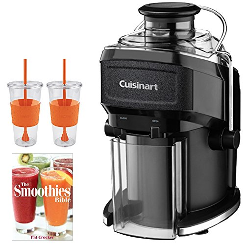 Cuisinart CJE-500 Compact Juice Extractor with Bundle Includes, Pat Crocker The Smoothies Bible (Paperback) & 2x Copco Eco First Tumbler 24 Ounce Togo Cup Mug - Orange (Cuisinart Compact Juice compare prices)