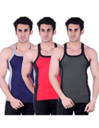 Zimfit Gym Vest - Pack Of 3 (Green_Red_Blue) - B01AO0LU36
