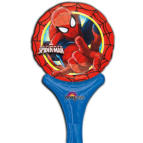 """Spiderman 12"""" Inflate-A-Balloon (Each) - Party Supplies"""