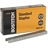 Bostitch Premium Standard Staples, Full-Strip, 0.25 Inch Leg, 5,000 per Box (SBS191/4CP)