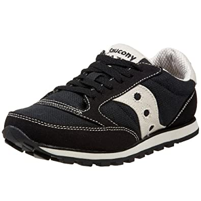 Saucony Originals Women's Jazz Low Pro Vegan Sneaker,Black/Oatmeal,5 M