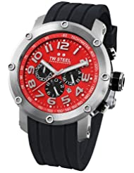 TW Steel Grandeur Tech 48mm Red Dial Chronograph Mens Watch TW125