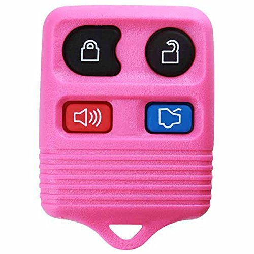 KeylessOption Pink Replacement 4 Button Keyless Entry Remote Control Key Fob Clicker (Ford Mustang Pink compare prices)