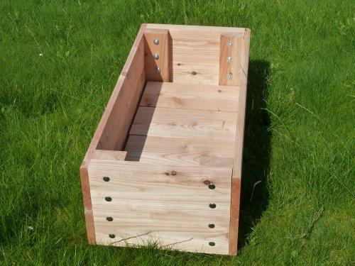 Garden Troughs Wooden Planters 1m Long X 450mm Wide X 350mm High