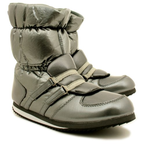 "Jogger Waterproof Sole Strappy Winter Sporty Snow Moon Boots ""Lorena"" Silver US Sz 7"