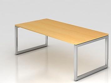 Supporto scrivania o rettangolare, 200x 100cm, Faggio