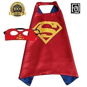 FAJ Superhero Cape and Mask, Children, Boys/Girls Dress Up Costume for Halloween
