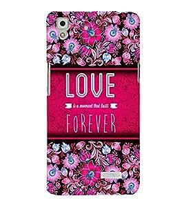 Love Forever 3D Hard Polycarbonate Designer Back Case Cover for Oppo R7 :: Oppo R7 Lite