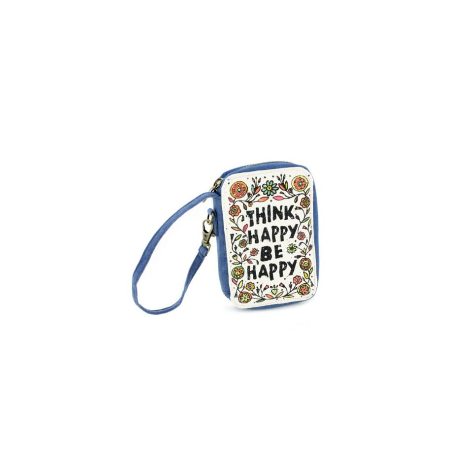 Natural Life Art and Soul Cosmetic Bag, Think Happy