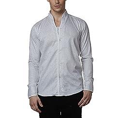 Lisova Men's Formal Shirt (LI/SHRT/094_White_Large)