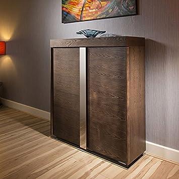 Elm Tall Sideboard / Cabinet / Buffet / Cupboard in Dark Elm 912H New