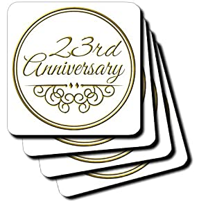 Gift Gold Text for Celebrating Wedding Anniversaries 23 Years ...