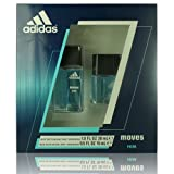 Adidas Fragrance Moves for Him 2 Piece Gift Set Plus (1.0 Ounce Eau De Toilette Plus 0.5 Ounce Eau De Toilette) (Tamaño: 2 pc)