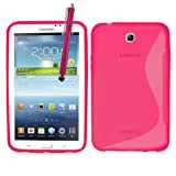 Samrick S Wave Hydro Gel Protective Case with Screen Protector, Microfiber Cloth and High Capacitive Stylus Pen for 7.0 inch Samsung Galaxy Tab 3 P3200/P3210 - Pink