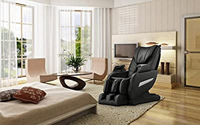 Brown Full Body Zero Gravity Shiatsu Massage Chair Recliner 3D Massager Heat