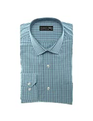 Today's Men Men's Formal Shirt Double Fused Collar ( Blue ) - B00RYWCJJM