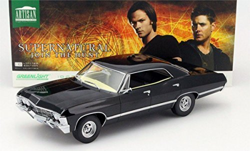 greenlight-118-collection-supernatural-1967-chevrolet-impala-ss-ohio-plate-by-greenlight