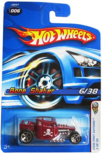 Hot Wheels 2006 #006 Bone Shaker Red Variant - 1